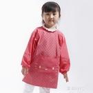 兒童罩衣小貓咪微防水罩衣韓版反穿衣長袖圍裙吃飯衣畫畫衣服 歐韓時代