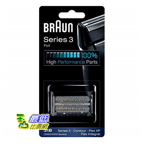 [8美國直購] Braun 替換刀片31B Replacement Foil and Cutter Cassette Multi Black BLS