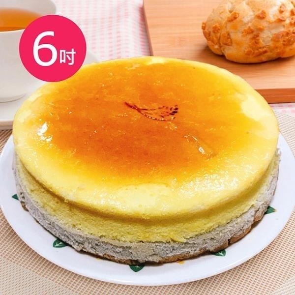 【南紡購物中心】預購-樂活e棧-生日快樂蛋糕-香芋愛到泥乳酪蛋糕(6吋/顆,共1顆)