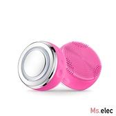 Ms.elec米嬉樂 全方位淨膚美顏儀-山玫瑰粉 矽膠洗臉機 導入緊膚 溫熱美肌光 音波洗臉 矽膠刷頭