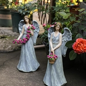 歐式花仙子擺件樹脂天使人物雕塑擺件花園裝飾 庭院