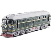 大號東風火車1:65內燃機4B懷舊綠皮火車頭聲光回力模型玩具
