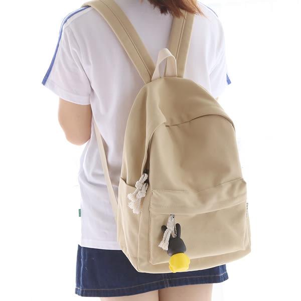 純色學生帆布包 女雙肩後背包《印象精品》b1426