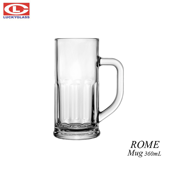 泰國LUCKY ROME MUG 360mL 啤酒杯 玻璃杯 飲料杯
