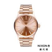 NIXON 手錶 原廠總代理 A450-897 Sentry 38 SS 玫瑰金 潮流時尚鋼錶帶 男女 運動 生日 情人節禮物