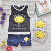 嬰兒短袖套裝 背心+短褲 寶寶童裝 UG11302 好娃娃