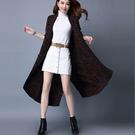 混色顯瘦針織開衫大衣 針織寬鬆厚外套(均碼共2款)