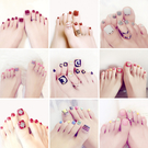 腳指甲貼片指甲貼紙防水持久美甲貼紙全貼韓國3d可穿戴美甲成品 店慶降價