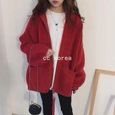 加厚雙面針織亮紗線毛衣外套 CC KOREA ~ Q21082
