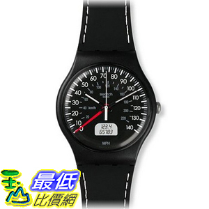 [美國直購] Swatch SUOB117 Brake Black Silicone Strap Watch 手錶