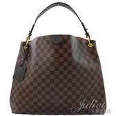 Louis Vuitton LV N44045 Graceful MM 棋盤格紋皮飾邊磁釦單肩背包 全新 預購【茱麗葉精品】