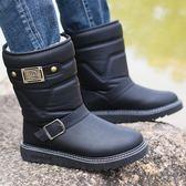 雪靴   男士雪地靴平跟防水棉鞋加絨加厚保暖冬季戶外防滑短靴