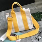 韓版時尚帆布包側背包手提包斜背包小包文藝包潮包 黛尼時尚精品