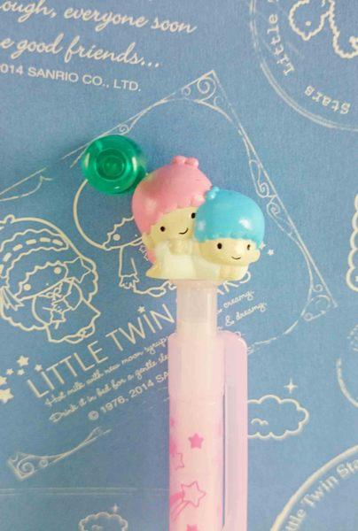 【震撼精品百貨】Little Twin Stars KiKi&LaLa 雙子星小天使~原子筆-紫星