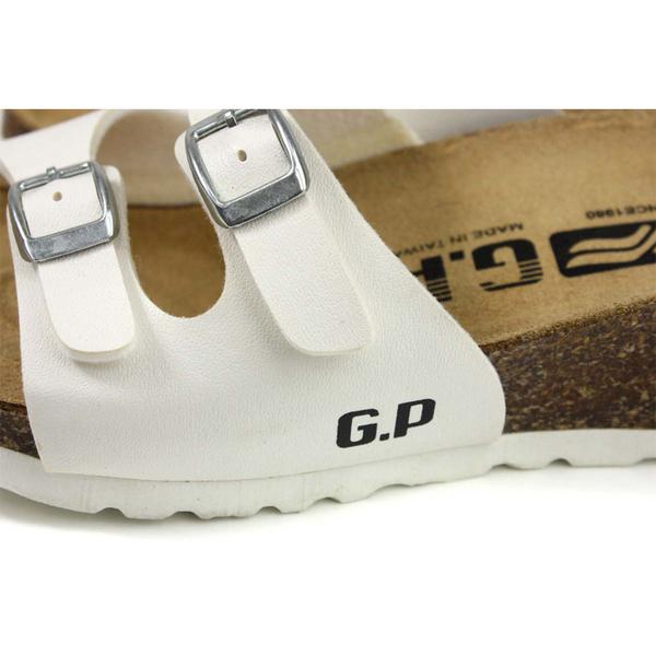 G.P (GOLD PIGEON) 阿亮代言 拖鞋 勃肯鞋型 女鞋 白色 厚底 W794-80 no922