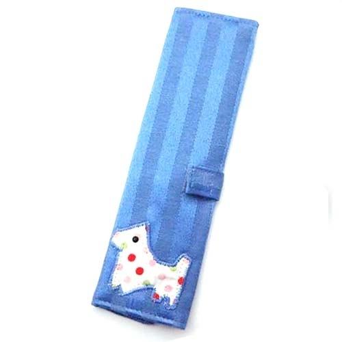 圓點小狗高級藍色環保筷袋