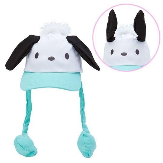 小禮堂 帕恰狗 造型耳朵動動玩偶帽 兔耳帽 鴨舌帽 老帽 遮陽帽 (綠白 大臉) 4550337-40919