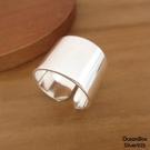 §海洋盒子§15MM寬版亮面開口式925純銀戒指《純銀戒指》