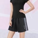 運動短褲女夏季寬鬆休閒薄款冰絲大碼健身套裝速干跑步五分褲籃球