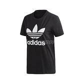 adidas 短袖T恤 Trefoil Tee 黑 白 女款 短T 基本款 運動休閒 【ACS】 FM3311