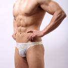 男內褲 性感 情趣用品 狂野男孩(白)3D剪裁U凸囊袋丁字褲-XL號『金鼠報喜』