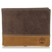 Timberland - Hunter雙折棕色色塊皮夾