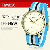 TIMEX 美國第一品牌 Waterbury INDIGLO 夜光指針錶 天美時 帆布 學院風 文青 TW2P91000