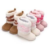 寶寶鞋 兒童雪靴 軟底羊羔絨嬰兒鞋 防滑學步鞋 寶寶雪靴 (12-13cm) MIY0628 好娃娃