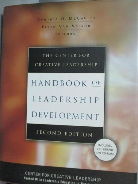 【書寶二手書T9/傳記_E1I】The Center for Creative Leadership Handbook