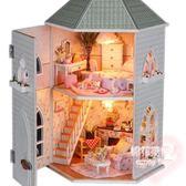成人創意小屋手工制作拼裝模型房子建築別墅LVV2649【棉花糖伊人】