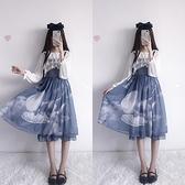 洋裝 和平之春天國少女永恒之詩洛麗塔洋裝lolita全套裝連衣裙子兩件套
