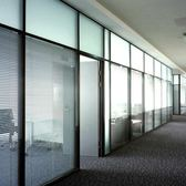 玻璃隔斷牆辦公室高隔斷雙層百葉磨砂鋁合金隔鋼化玻璃屏風隔牆板【兒童節交換禮物】