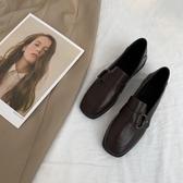 皮鞋 春季學院風基礎款小皮鞋女學生日系百搭一腳蹬樂福鞋【快速出貨八折】