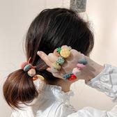 髮圈 水果 彩珠 民族風 高彈力 加粗 髮繩