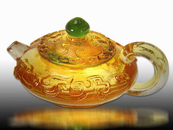 鹿港窯~居家開運水晶琉璃壺【嚨福氣】附古法制作珍藏保證卡◆免運費送到家