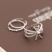 戒指 925純銀 鑲鑽-潮流太陽花生日情人節禮物女開口戒3色73dv33【時尚巴黎】