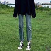 牛仔褲 小個子加絨牛仔褲女腰2019秋冬季新款顯寬鬆闊腿百搭直筒褲子