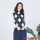 【RED HOUSE 蕾赫斯】菱格紋針織背心(共2色)