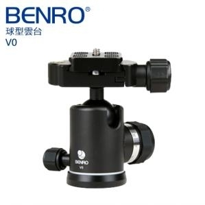 百諾【載重20Kg】Benro V0 (恆定 記憶 阻尼球形雲台) 適用體育/運動高速題材 公司貨 快板PU60