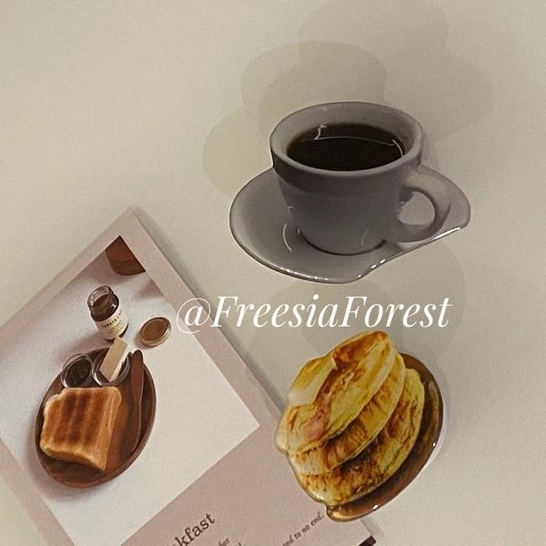 韓國ins小眾設計自制冷淡風咖啡蜂蜜鬆餅氣囊支架個性桌面少女可愛