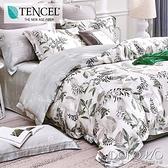 DOKOMO朵可•茉《枝繁葉茂》100%高級純天絲-雙人特大(6*7尺)四件式兩用被床包組