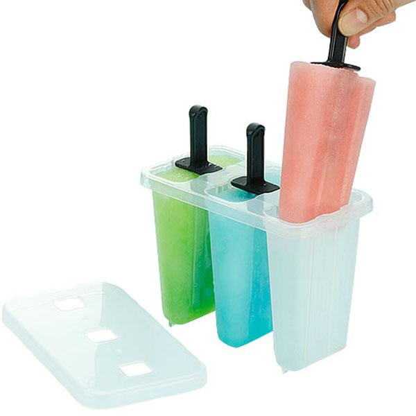 BO雜貨【SV8299】日本製 5050 三入冰棒盒 製冰盒 冰棒模型 做水果冰棒 雪泥 養樂多 紅豆 枝仔冰
