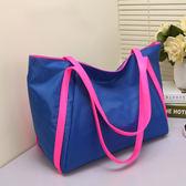 旅行袋 大包包潮時尚女包包旅行包手提購物袋尼龍布包側背包【美物居家館】