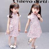 中國風女寶寶旗袍洋裝 連身裙0-1-2-3歲4洋氣女童公主裙夏裝女嬰兒裙子 萬聖節禮物