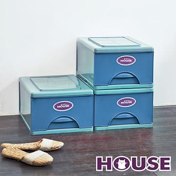 【nicegoods】 經典單層收納整理箱M(16.5公升) 3入組(收納櫃 抽屜櫃 衣櫃 塑膠 整理箱)
