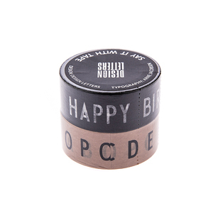 Design Letters 紙膠帶2入組 Happy Birthday