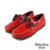 【Pelutini】donna女款休閒雷根鞋 紅色(6733W-RED)