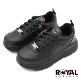 Skechers MAX CUSHIONING 全黑 寬楦 皮革 防滑 工作鞋 女款 NO.J1033【新竹皇家 108015W-BLK】