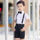 小花童禮服男童表演服夏兒童鋼琴演出服六一主持人男童小禮服套裝英倫風 LJ7133【極致男人】