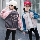 兒童外套 女童棒球衫2019新款秋裝夾克兒童正韓春秋運動洋氣開衫棒球服外套